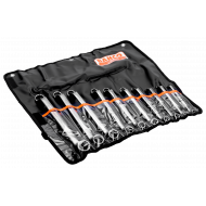 Bahco 2M/10T Deep Offset Double Ring End Wrench Set – 10 Pieces