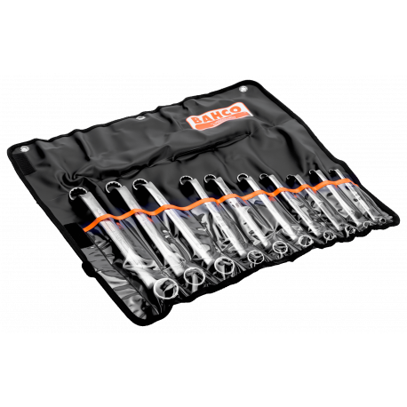Bahco 2M/10T 6mm - 27mm Deep Offset Double Ring-End Wrench Set – 10 Pieces