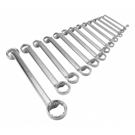 Bahco 2M/13 6mm - 41mm Deep Offset Double Ring-End Wrench Set – 13 Pieces