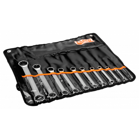 Bahco 4M/10T 6mm - 32mm Flat Double Ring-End Wrench Set – 10 Pieces
