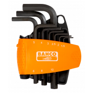 Bahco BE-9578 Hex L-Key Set with Compact Holder – 9 Pieces