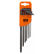 Bahco BE-9775 Long Ball End Hex L-Key Set – 7 Pieces
