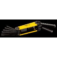 Bahco BE-9787 Hex Folding L-Key Set – 7 Pieces