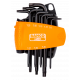 Bahco BE-8675 Long Tamper Resistant Torx L-Key Set – 8 Pieces