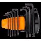 Bahco BE-9675 Ball End Torx L-Key Set – 8 Pieces