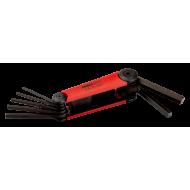 Bahco BE-9777 Hex Folding L-Key Set – 7 Pieces