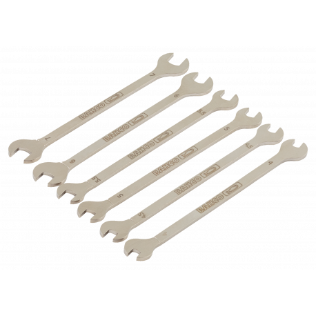 Bahco 1933M/6T 4mm - 7mm Electronic Double Open-End Wrench Set - 6 Pieces