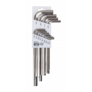 Bahco BE-9785I Stainless Steel Long Hex L-Key Set – 13 Pieces