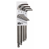 Bahco BE-9786I Stainless Steel Long Ball End Hex L-Key Set – 13 Pieces