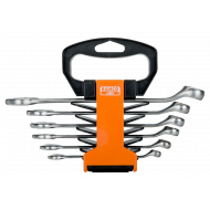 Bahco 1952M/SH6 8mm - 17mm Offset Combination Wrench Set – 6 Pieces