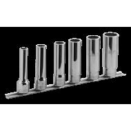 "Bahco 7806MD 1/2"" Bi-Hex Socket Set on Rail (10mm - 22mm) - 6 Pieces"