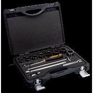 """Bahco 7823DZS 1/2"""" Bi-Hex Socket Set (3/8"""" - 1 5/16"""") with Ratchet in Metal Case - 23 Pieces"""