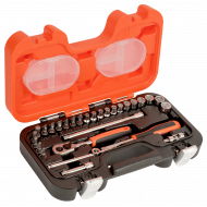 """Bahco S290 1/4"""" Hex Socket Set (4mm - 13mm) with Ratchet & Socket Drivers - 29 Pieces"""