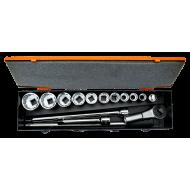 "Bahco 8821MB 3/4"" Bi-Hex Socket Set (22mm - 50mm) with Ratchet Head - 23 Pieces"
