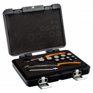 "Bahco A7440DZE 3/8"" Bi-Hex Socket Set (1/4"" - 7/8"") with Round Headed Ratchet - 14 Pieces"