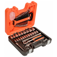 """Bahco S400 1/2"""" Hex Socket (10mm - 32mm) and Combination Spanner Set (7mm - 19mm) with Ratchet - 40 Pieces"""
