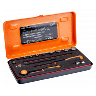 """Bahco 6715MGS 1/4"""" Hex Socket Set (4mm - 13mm) with Ratchet - 16 Pieces"""
