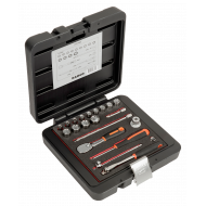 """Bahco 6721NM 1/4"""" Hex Socket Set (4mm - 14mm) with Ratchet - 21 Pieces"""