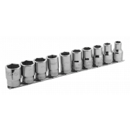 """Bahco 7810MH 1/2"""" Hex Socket Set on Rail (10mm - 22mm) - 10 Pieces"""