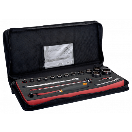 """Bahco 7818SST 1/2"""" Hex Socket Set (10mm - 32mm) with Ratchet - 18 Pieces"""