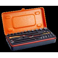 "Bahco 6730MBP 1/4"" Bi-Hex Socket Set (5mm - 14mm) with Bits & Pear Head Ratchet - 31 Pieces"
