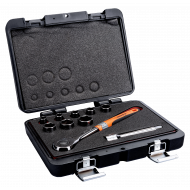 "Bahco 7819SRE 1/2"" Hex Socket Set (10mm - 24mm) with Ratchet - 10 Pieces"