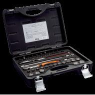 "Bahco 7429JDE 3/8"" Bi-Hex Socket Set (6mm - 22mm) with Round Headed Ratchet - 34 Pieces"