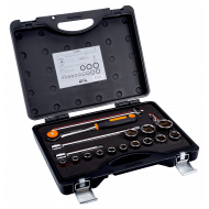 """Bahco 7818MHR 1/2"""" Hex Socket Set (10mm - 32mm) with Ratchet - 18 Pieces"""