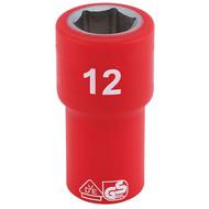 """Draper 31490 12mm x 1/4"""" Insulated Hex Socket"""