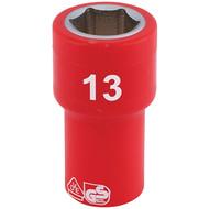 """Draper 31491 13mm x 1/4"""" Insulated Hex Socket"""