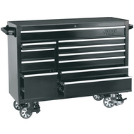 """Draper 14586 56"""" Black Roller Tool Cabinet with 11 Drawers"""
