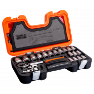 Bahco S240 Hex Socket Set (10mm - 32mm) with Ratchet - 24 Pieces