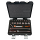 """Bahco 7422MHR 3/8"""" Hex Socket Set (6mm - 22mm) with Ratchet - 22 Pieces"""