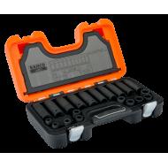 "Bahco D-DD/S20 1/2"" Deep & Standard Sized Impact Socket Set (10mm - 19mm) - 20 Pieces"