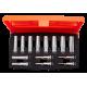 """Bahco S1214L 3/8"""" Deep Hex Socket Set (6mm - 19mm) - 14 Pieces"""