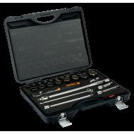 "Bahco 7888DM 1/2"" Bi-Hex Socket Set (10mm - 32mm) with Ratchet - 25 Pieces"