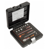 """Bahco 6717MBP 1/4"""" Bi-Hex Socket Set (5mm - 14mm) with Pear Head Ratchet - 17 Pieces"""