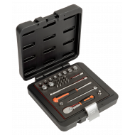 """Bahco 6729MHP 1/4"""" Hex Socket Set (4mm - 14mm) with Ratchet & Bits - 29 Pieces"""