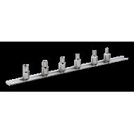 "Bahco 6706TE 1/4"" Torx Socket Set on Rail (E4 - E10) - 6 Pieces"