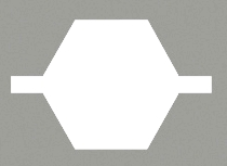 hexagonal shaped crimp profile