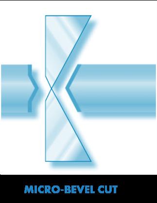 micro-bevel cut shape