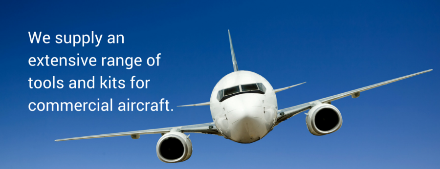 We supply an extensive range of tools and kits for commercial aircraft